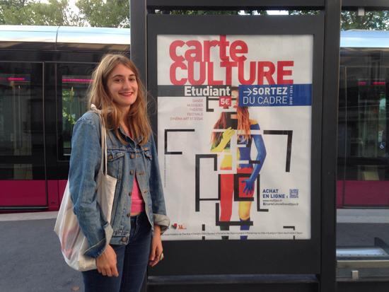 Clara Vidal-Rosset (étudiante ENSA Dijon) a réalisé le visuel de la Carte Culture 2015-2016