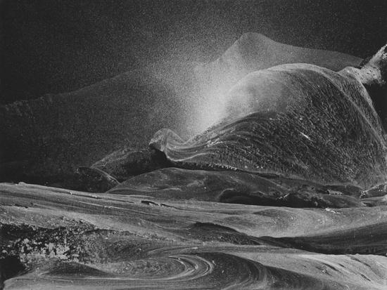 Gilles Balmet Silver mountains 2015 30x40cm peinture acrylique argent sur carton noir