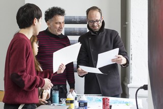 """Workshop de décembre 2016 de Fabio Viscogliosi, """"lignes de force, lignes de fuite."""" Enseignants: Carlos Castillo et Pierre Tillet"""